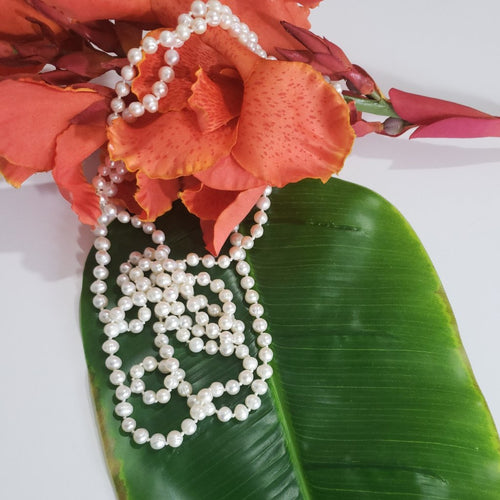 Freshwater Pearl Necklace 5.5-7mm (64 in) - Houzz of DVA Boutique