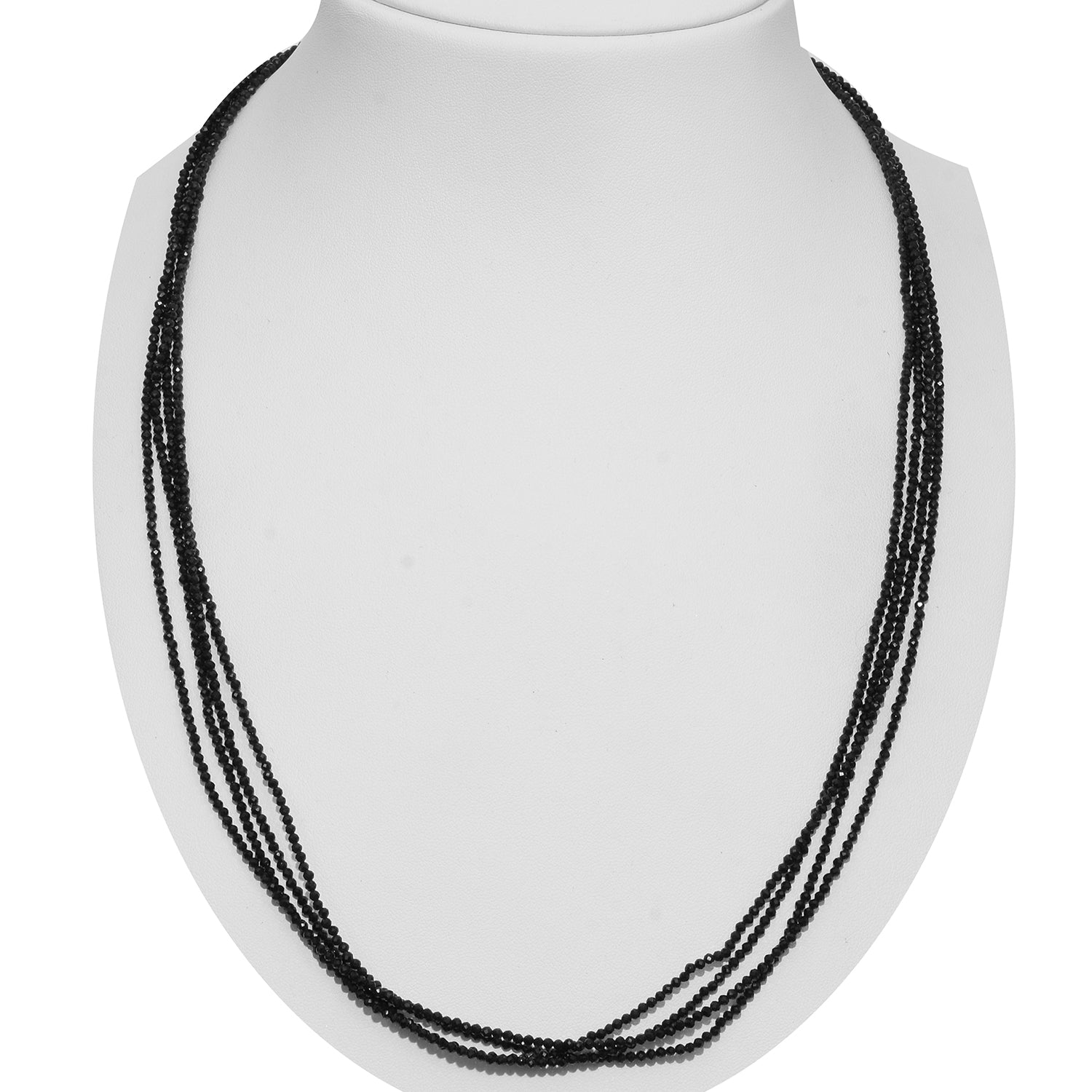 Thai Black Spinel Sterling Silver Necklace (100 in) TGW 80.00 cts. - Houzz of DVA Boutique