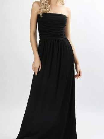 A Pocket Full of Delights Maxi Tube Dress in Black - Houzz of DVA Boutique