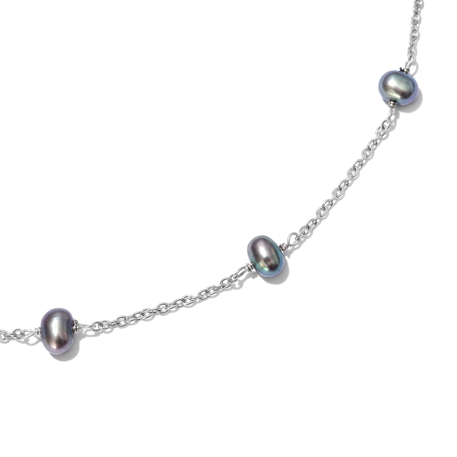 Peach Freshwater Pearl Station Necklace (20 in) - Houzz of DVA Boutique