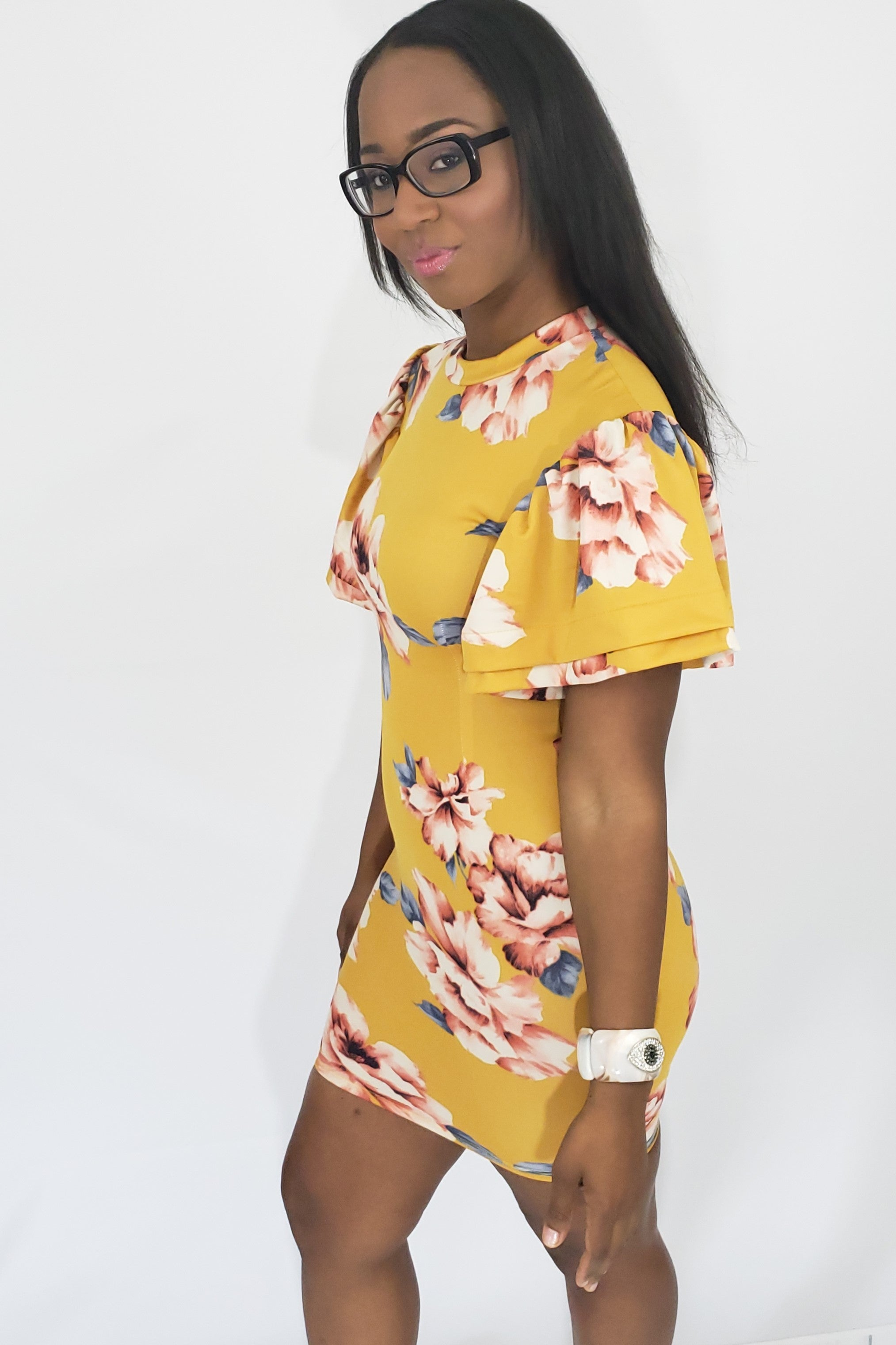 8bfab251f62 Spring Forward with Brittany Mustard Floral Dress. Spring Forward with  Brittany Mustard Floral Dress - Houzz of DVA Boutique