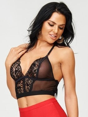 Daisy Strappy Back Crop Lace Bralette - Houzz of DVA Boutique