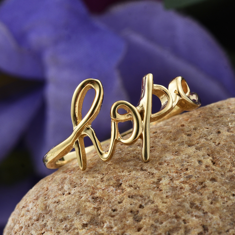 Hope Ring in14K RG Over Sterling Silver (Size 7.0)
