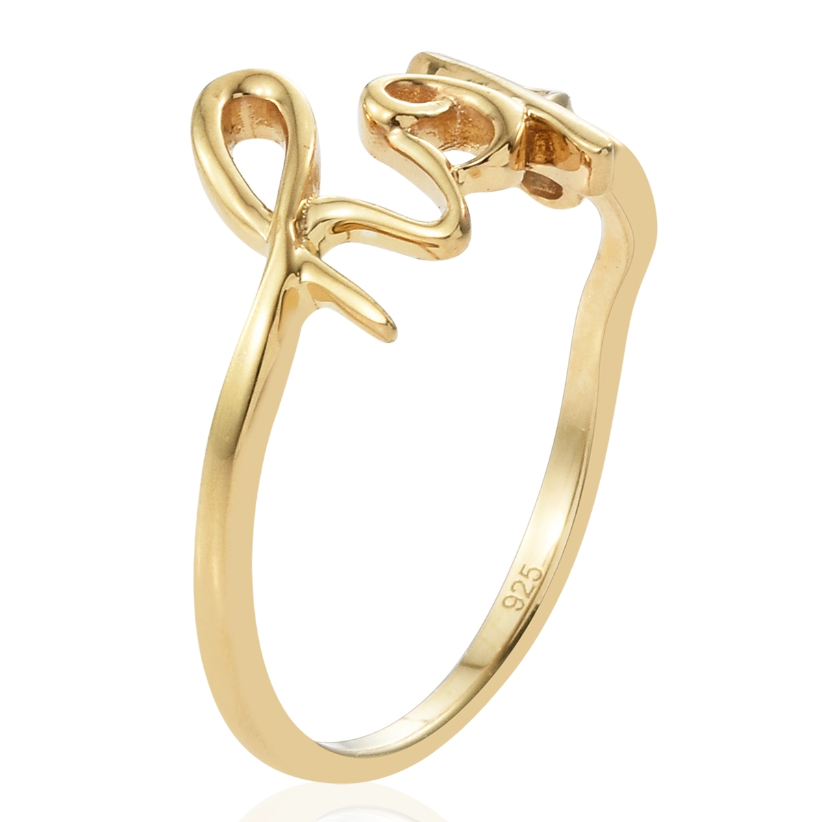 Hope Ring in 14K YG Over Sterling Silver. - Houzz of DVA Boutique