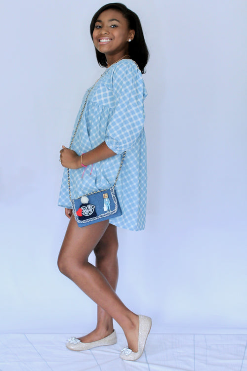 I'm No Ordinary Girl Denim Mini Clutch/Crossbody - Houzz of DVA Boutique