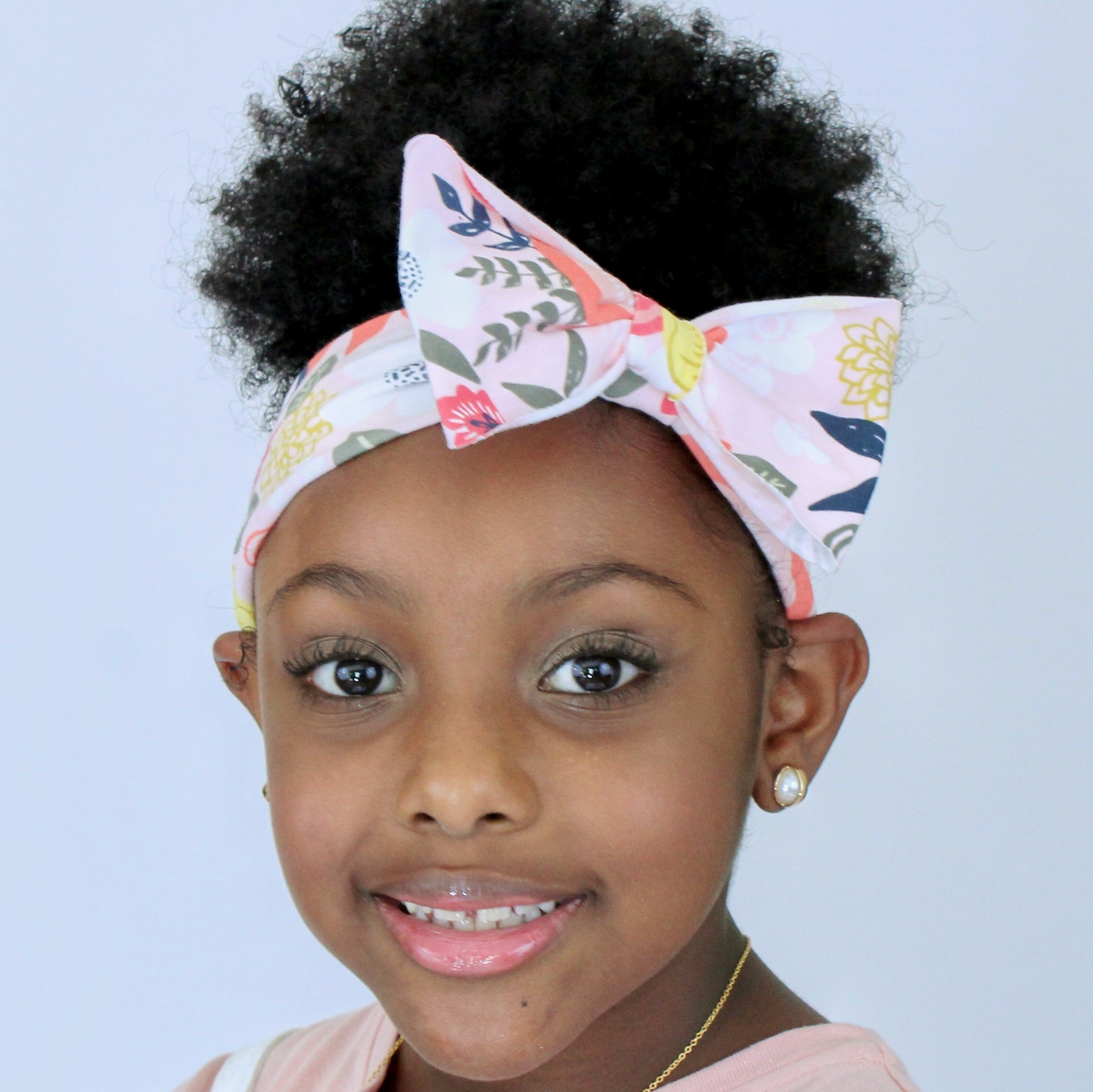 Mila Tropical Twist Pink on Pink Floral Headband - Houzz of DVA Boutique