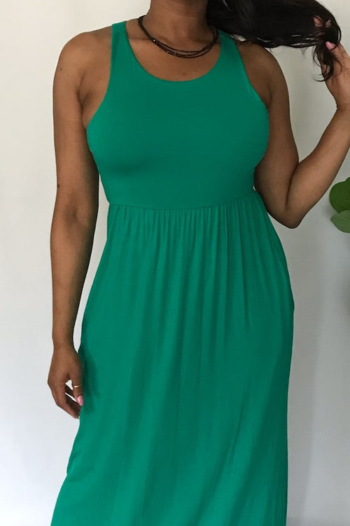 She's So Kelli Green Racerback Maxi - Houzz of DVA Boutique