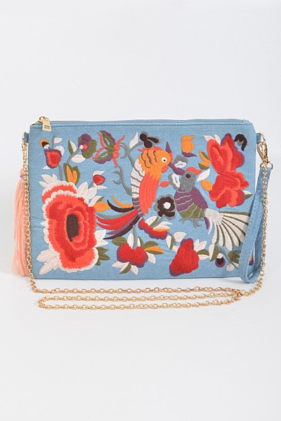 Denim Paradise Clutch - Houzz of DVA Boutique