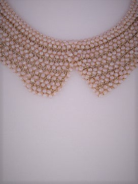 Hello Dolly Blush Faceted Beaded Bib Necklace - Houzz of DVA Boutique