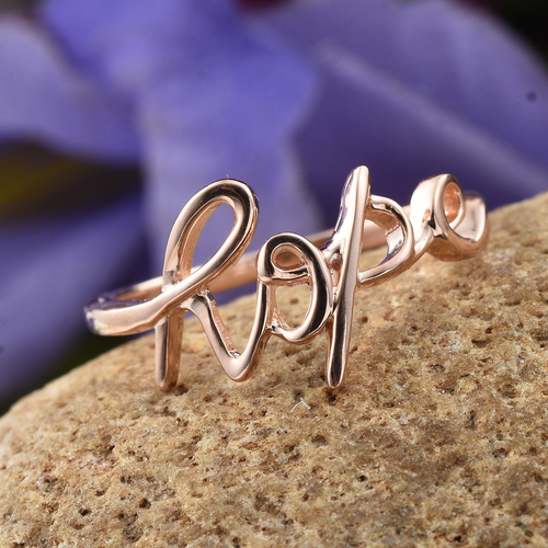 Hope Ring in14K RG Over Sterling Silver (Size 7.0) - Houzz of DVA Boutique