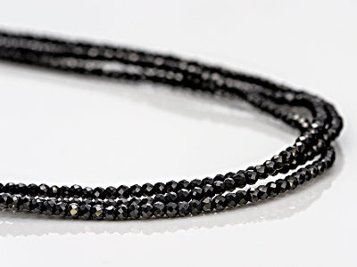 Thai Black Spinel Sterling Silver Necklace (100 in) TGW 80.00 cts.