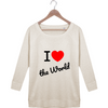 "Sweat Manches 3/4 Femme ""Love The World"" - The smart explorateur"