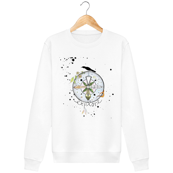 "Sweatshirt unisexe ""Escale d'un autre monde"" - The smart explorateur"