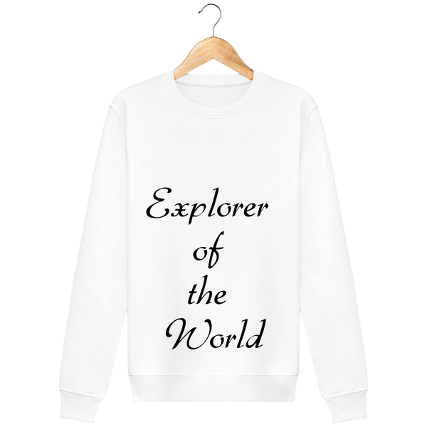"Sweat femme coton bio ""Explorer of the World"" - The smart explorateur"