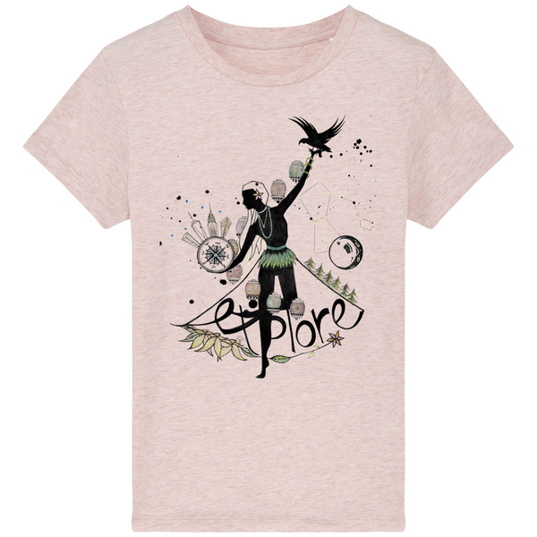 "T-Shirt Enfant Bio ""MINI EXPLORER"" - The smart explorateur"