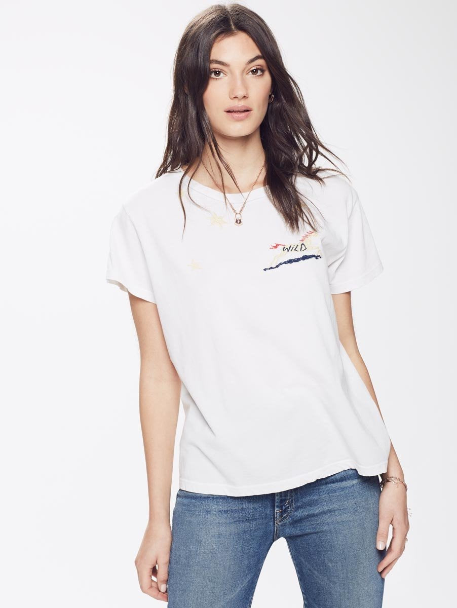 The Boxy Goodie Goodie Tee / Saddle Up Dirty White