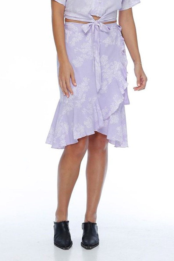 Sofia Wrap Skirt / Lilac Flower