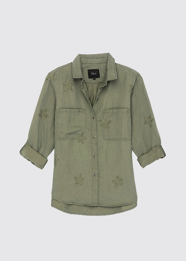 Marcel Shirt / Sage with Stars