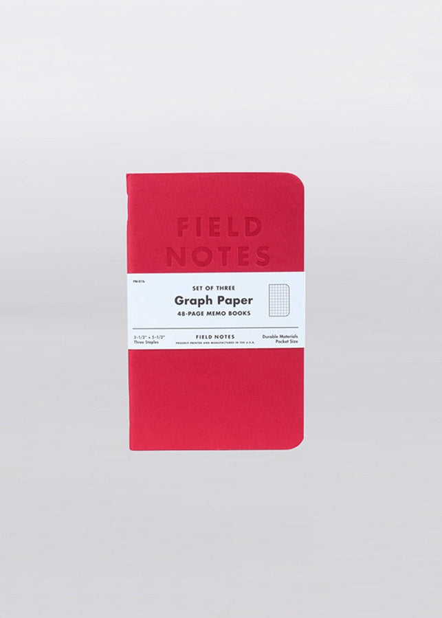 Field Notes - Graph Paper / Set Of Three