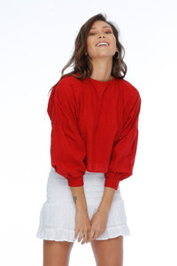 Melrose Blouse / Rouge
