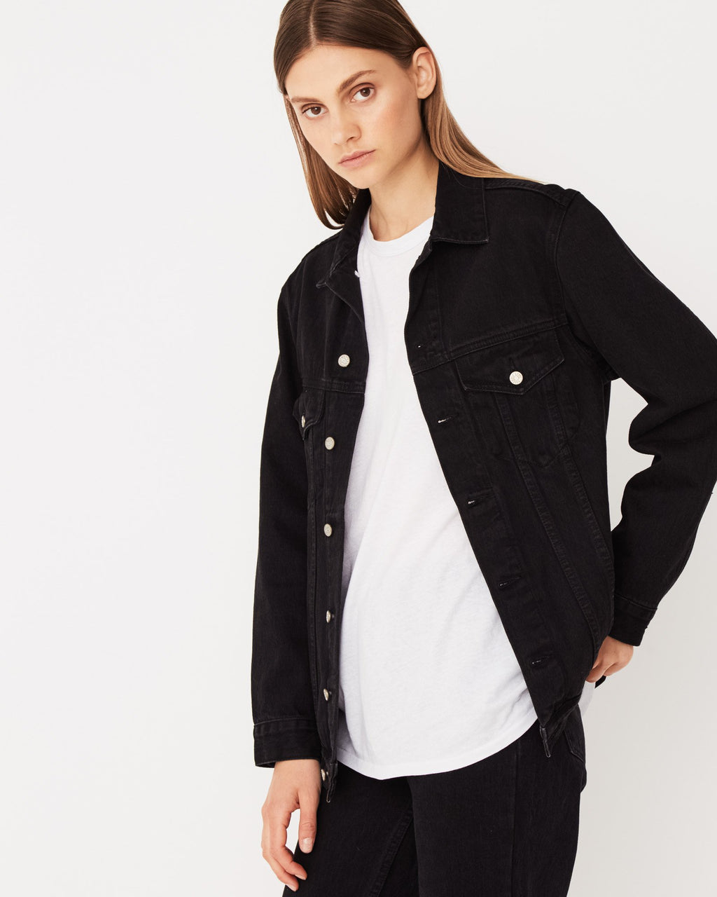 Ledger Jacket / Worn Black