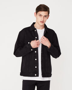 Oversized Jacket Denim / Worn Black