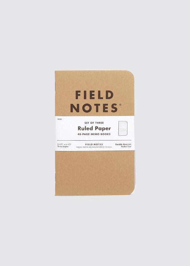 Field Notes - Ruled Paper  / Set Of Three