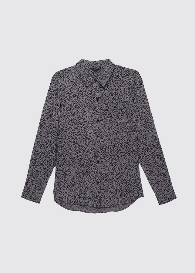 Kate Shirt / Charcoal Cheetah