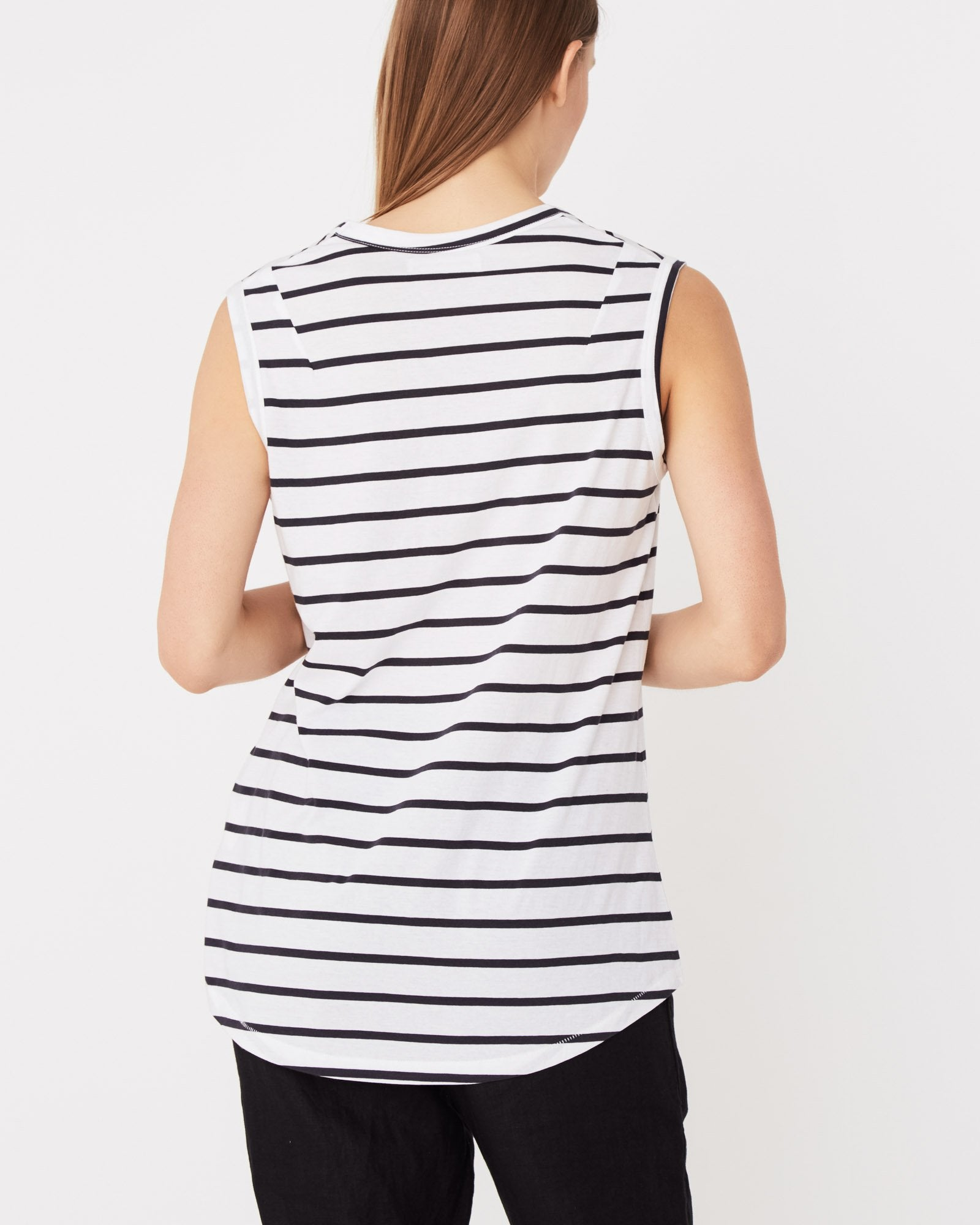 Scoop Tank / Worn Navy Stripe