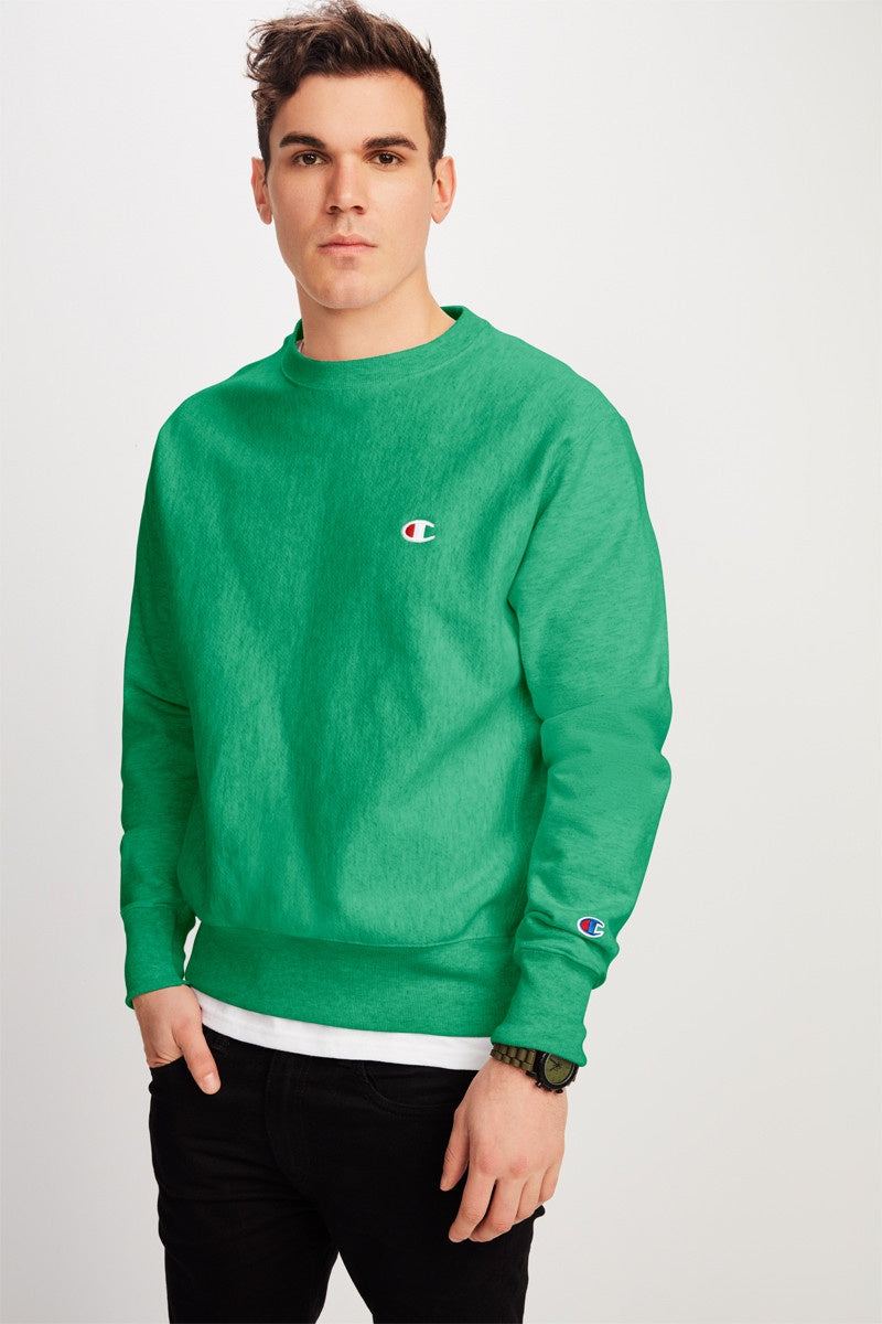 Reverse Weave Classic Crew / Kelly Green