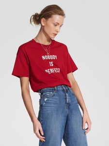 Nobody Is Perfect Tee / Flame