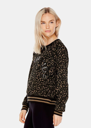 Camo Leopard Cropped Sid Crew