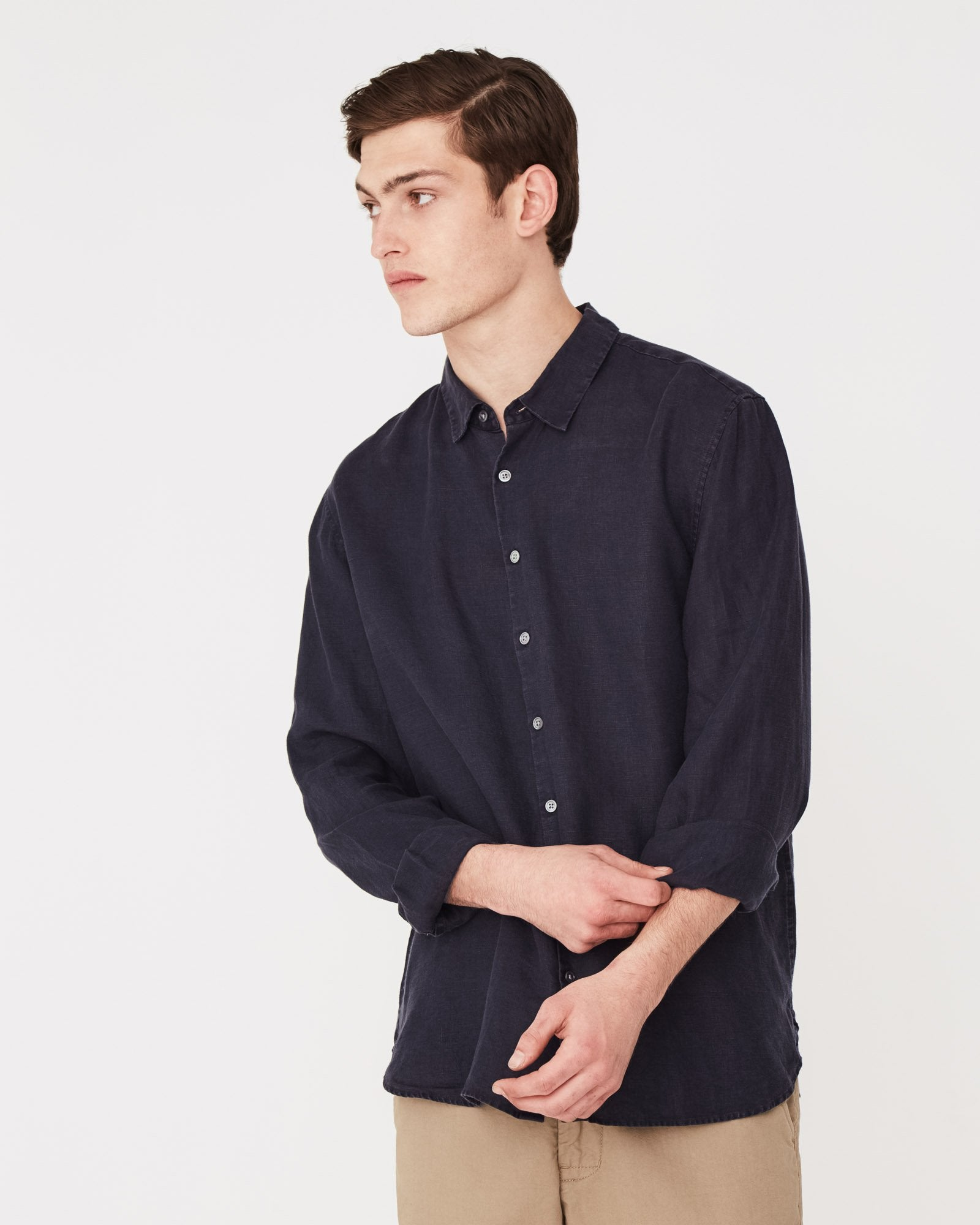 Casual L/S Shirt / Worn Navy