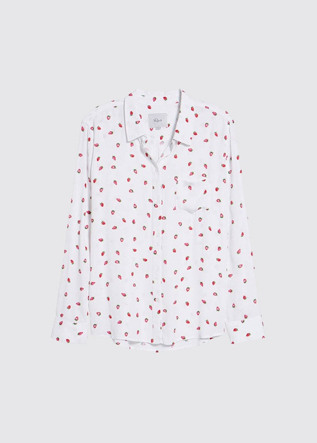 Kate Shirt / White Strawberry