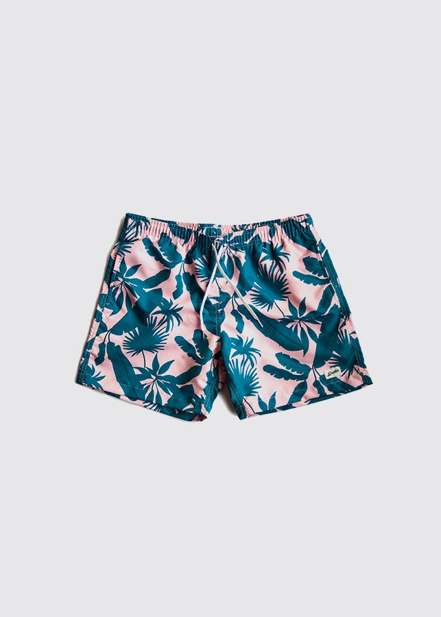 Swim Trunk / Tropical Palms - Pink