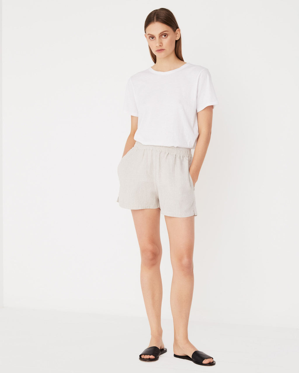 Basis Linen Short / Oat Marle