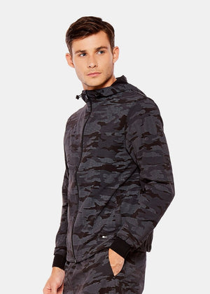 Black Camo Run Jacket