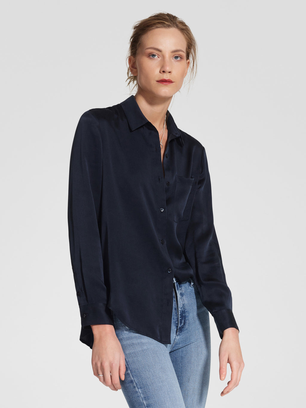 Classic Silk Shirt / Night Sky