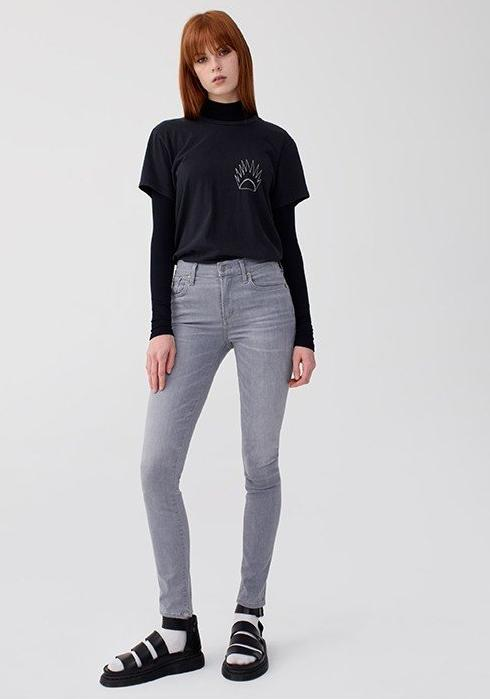 Sophie Hi Rise Skinny / Fame (Light Grey)