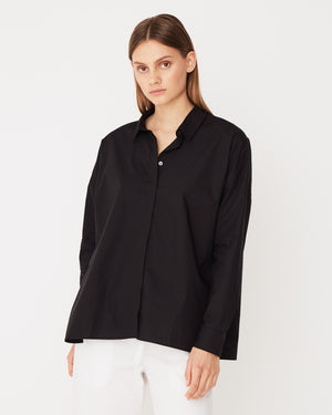 Cotton Voile L/S Shirt / Black