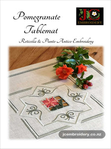 Reticella Florals – Pomegranate Tablemat