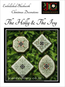 The Holly & The Ivy - Embellished Blackwork
