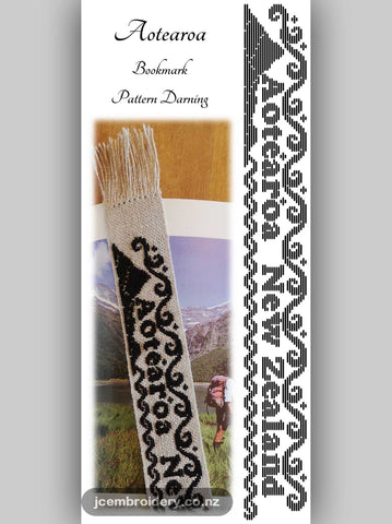 Aoteoroa Bookmark – Pattern Darning Kit