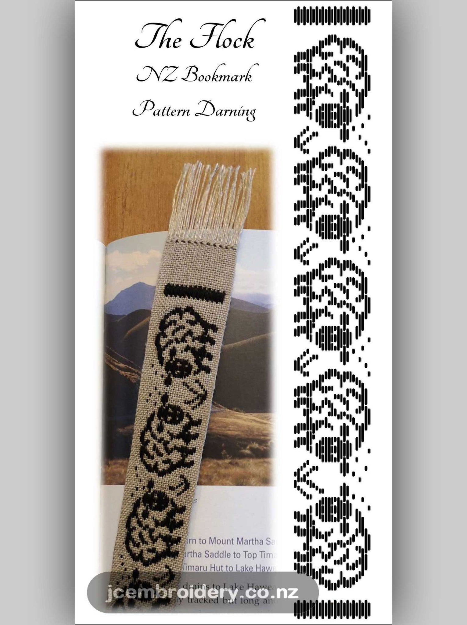The Flock Bookmark – Pattern Darning Kit