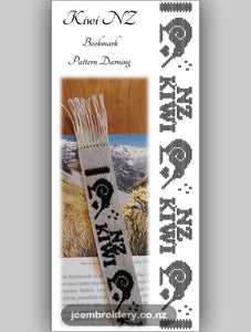 Kiwi NZ Bookmark – Pattern Darning Kit