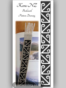 Koru NZ Bookmark – Pattern Darning Kit