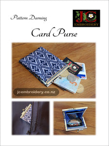 Card Purse - Pattern Darning