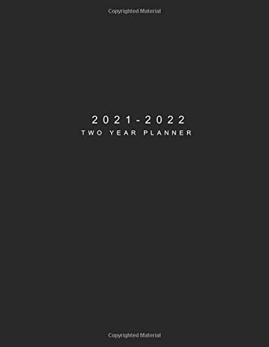 2021-2022 Two Year Planner: Black Cover | 24 Months Agenda Planner with Holiday | 2-Year Large Monthly Planner Academic Schedule Organizer Logbook ... Monthly Calendar Appointments Planner)