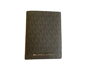 Michael Kors Jet Set Travel Passport Holder Wallet Case PVC 2019 (Black 2019)