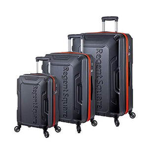 Regent Square Travel - Luggage Sets with Build-In TSA Lock and Spinner Goodyear Wheels – RS-CODE, 3 Pieces Hard Case Set (Black)